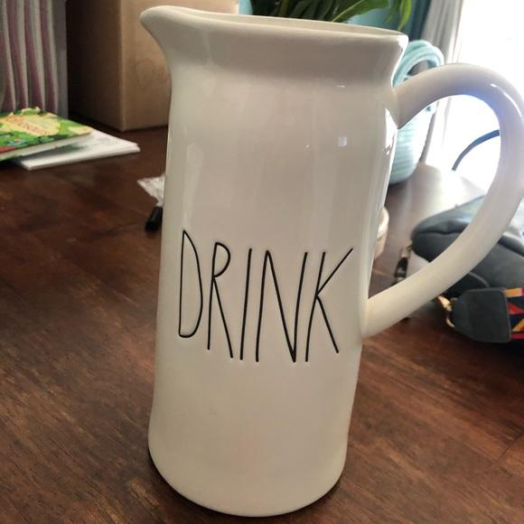 """Rae Dunn """"drink"""" pitcher"""